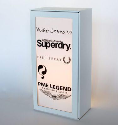 Lichtbak-plaat-drukken-golfkarton-polystyreen